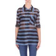 Skjortor Vintage  FS6989A2LB Shirt Women Blue fantasy