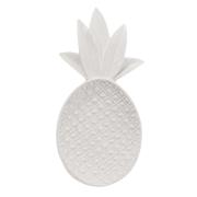 Pineapple dekorationsbricka vit