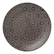 Abella mönstrad tallrik Ø 27 cm svart