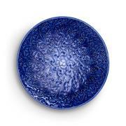 Lace Tallrik 20 cm, Blå