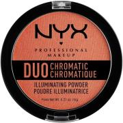 NYX PROFESSIONAL Makeup Duo Chromatic Illuminating Powder Synthetica