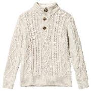 Gap Oatmeal Heather Cable Knit Sweater XS (4-5 år)