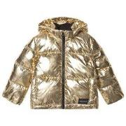 Calvin Klein Jeans Gold Hooded Puffer Jacket 6 years