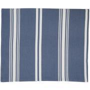 Striped Bordsduk 150x250 cm, Blå/Vit