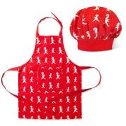 Förkläde + Kockmössa Barn, Röd