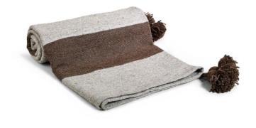 Day home Piles Filt 90% Bomull 10% Ull 150x150 cm Grå/brun