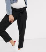 ASOS DESIGN Maternity – Figursydda, avsmalnande ankle grazer-byxor med...