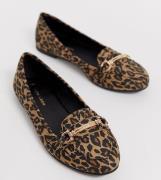 New Look – Djurmönstrade loafers-Sandfärgad