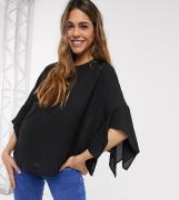 ASOS DESIGN Maternity – Svart topp med utsvängd ärm