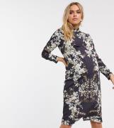 Hope & Ivy Maternity – Blommig fodralklänning-Flerfärgad